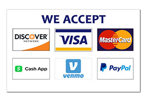 We Accept Payment Options